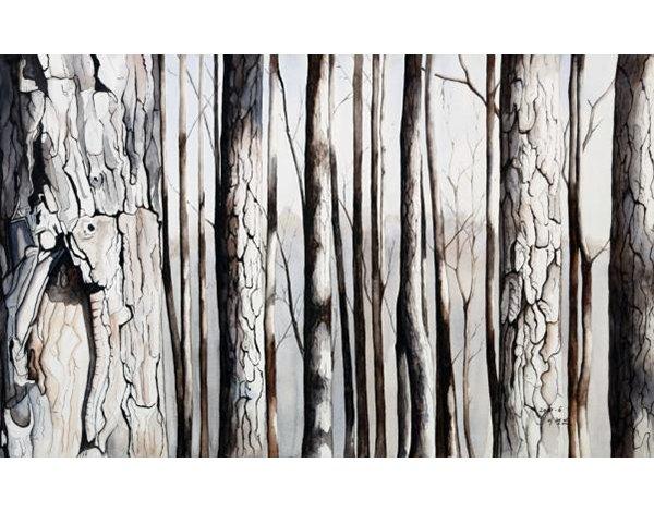 나무와 나무사이. 궁중회화