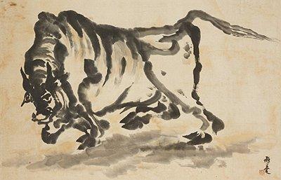 이응노(1904-1989), 소, 한지에 수묵담채, 미상, 62x95