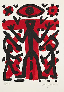A.R. Penck(1939~2017), Auge Leider Vergriffen, 실크스크린, 미상, 70x50